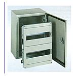 METAL BOX IP65 WITH DOOR 1LINE 10PORT