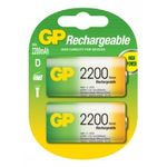 GP rechargeable batteries D 2200 mAh NiMh 1.2V