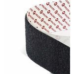 VELCRO USE FASTENER HOOK & LOOP FASTENER BLACK 20mm