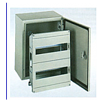 METAL BOX IP65 WITH DOOR 1LINE 10PORT