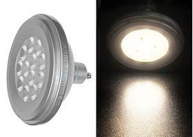 LED SMD ΑLUMINIUM AR111 GU10 12W 230VAC 36' WARM